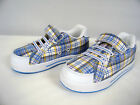 New in Box Girls - Plaid Velcro Skate Sneaker  Youth Sizes 3 and 4