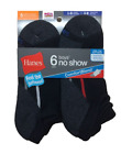 12 Hanes Boys No-Show ComfortBlend Assorted White Socks 434/6