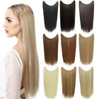 22'' Secret Invisible Wire Hair Extensions Long Straight Synthetic Hair Piece
