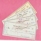 Vintage Cheques/Checks - America, American - Irving Trust Company, 1951-1954