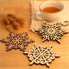 Wooden Snowflake Coasters Holder Coffee Tea Drinks Chic Cup Mat Chic XMAS Carved