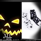 american street cartoon halloween Witch story giddy print casual socks JMA7005