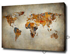WORLD MAP CANVAS PRINT POSTER PHOTO WALL ART RUSTIC PAINTING COOL