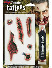 3D Realism Halloween Horror Temporary Tattoos Scars Stitches & Fake Blood