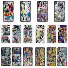 DC Marvel comic book strips cover case for Sony Xperia Phone - G3