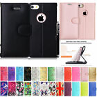 For Apple iPhone 4 5 se 5c 6 7 8 & x Leather Wallet Book Flip Case Cover +Stylus