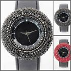 UY03 Quality Crystal Charm Lady/Women Deluxe Fashion Leather Watch+Gift Box