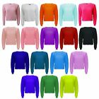 New Celeb Inspired Womens Ladies Open Chunky Knitted Jumper Oversized Crop Top