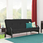 Futon Sofa Bed w/MATTRESS Convertible Sleeper Lounger Dorm Couch ASSORTED Colors