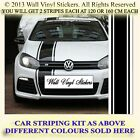 CAR STRIPES BONNET DECALS MINI FORD STICKERS STRIPING KIT  COMPLETE SET   5