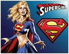 Custom SUPERGIRL Birthday Super Party INVITATIONS Postcards or Flat Cards