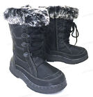 Womens Winter Boots Fur Lined Insulated   Water Repellent Zipper Snow Ski Shoes