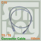 T5 T8 Power cord cable both side tube connector 3 pin sockets 100cm wire two end