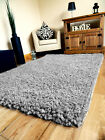 SMALL X LARGE SILVER GREY MODERN THICK SOFT PILE HEAVY SHAGGY LIVING AREA RUG