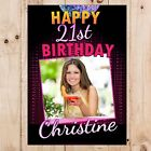 Personalised 18th 21st 30th 40th 50th 60 Happy Birthday PHOTO Poster Banner N59