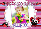 Personalised Happy 1st 2nd 3rd 4th 5th Birthday Party PHOTO Poster Banner N44