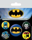 BATMAN LOGO AND CHARACTERS 5 PACK OF BADGES NEW OFFICIAL MERCHANDISE