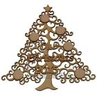 ** NEW MDF Our Christmas 2015 Family Wall Plaque Tree Shape Memory Tree Craft **