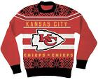 NFL Kansas City Chiefs Logo Adult Red Football Ugly Christmas Sweater $8.0 USD on eBay