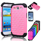 Luxury Bling Crystal Rugged Rubber Case Cover For Samsung Galaxy S3 S III i9300