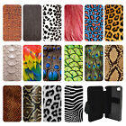 Animal Print Pattern Flip Wallet cover case for Apple iPhone No.26