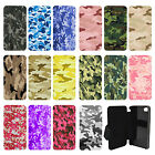 Army Camo Camoflage Flip Wallet cover case for Apple iPhone No.24