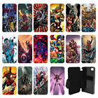 DC Marvel superhero comic book Flip Wallet cover case for Apple iPhone No.6