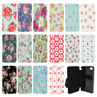 Vintage Floral Pattern Flip Wallet cover case for Apple iPhone No.25