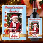 Personalised Christmas Xmas Wine Champagne Bottle Label N79 - Stocking filler