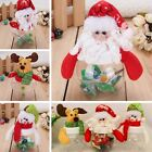 Christmas Mini Santa Clear Plastic Candy Bags Gift Storage Bottle Holder Decor