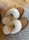 Womens / Ladies Genuine Suede Sheepskin Slippers with Light Weight Sole