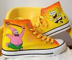 2015 Spongebob Pattern Girls Boys Children's Hand-painted Canvas Shoes Sneaker