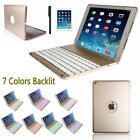 Apple iPad Air 2/1 7 Colors Backlit Bluetooth Keyboard Case Smart Folio Cover