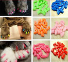 20 pcs Soft Silicone Cat Claws Nail Caps Dog Paws cover pet Sheath Protective