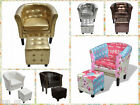 New sorts of Retro Style Armchair w/ Stool/Ottoman for Bedroom / Baby Feeding