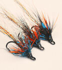 Tummel Shrimp x 3 salmon flies - doubles and trebles sizes 8, 10 and 12