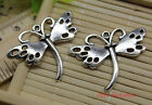 3 10 30 100pcs Retro style beautiful butterfly alloy charms pendant 36x29mm