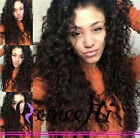 100% Brizilian human hair Loose curly full/front lace wig high 130% density
