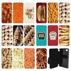Food Snacks Flip Wallet cover case for Apple iPhone No.17