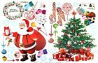 Christmas Santa Clau Deer Snow Wall Decals Removable Stickers Home Decor