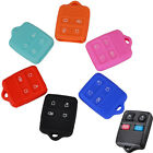 FIT FOR FORD MUSTANG EXPLORER SILICONE 4 BUTTON SMART KEY REMOTE CASE COVER FOB