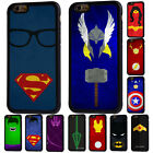 Superhero The Avengers Rubber Phone Case For iPhone 5/5s 6/6s 7 8 X Plus Cover