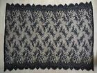 Nylon eyelash lace fabric panel, 1.5m x 1.2m scallop edges, black or white