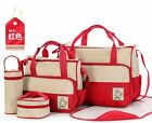 Baby Diaper Bag Set 5-piece Durable Nuppy Changing Handbag For Mummy 7 Colors