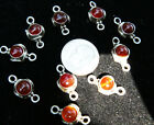 Findings conector Sterling Silver stone Carnelian,onyx,tiger eye, Emerald agate