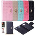 Luxury Leather Bowtie HandBag Chain Wallet Card Flip Case Cove for Various Phone