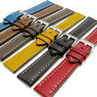 CONDOR ELITE Heavy Edge Cut Leather Watch Strap 628R 18mm 20mm 22mm 6 Colours