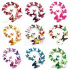 12pc 3D Colorful Rainbow Butterfly Wall Sticker Mural Door Decal Home Room Decor
