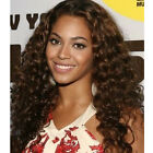 Brown Color Deep Wave Lace Front Wigs Medium Length Top Quality Human Hair