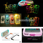 LED Light UP Remind Incoming Call Transparent COVER Case For iPhone 5s 6s & Plus